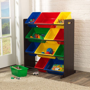 KidKraft Sort It & Store It Bin Unit - Espresso - All-Star Learning Inc. - Proudly Canadian