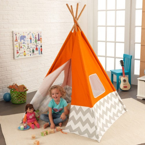 KidKraft Deluxe Play Teepee - Orange - All-Star Learning Inc. - Proudly Canadian