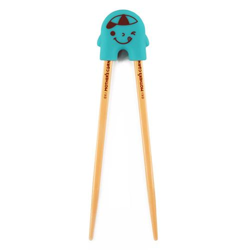 Mother's Corn Rice 2 See U Chopsticks Training Set - Blue - All-Star Learning Inc. - Proudly Canadian
