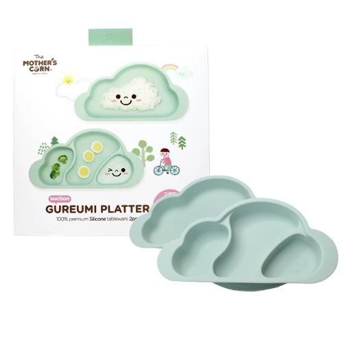 Mother's Corn Gureumi Suction Cloud Plate (2pcs) - Mint - All-Star Learning Inc. - Proudly Canadian