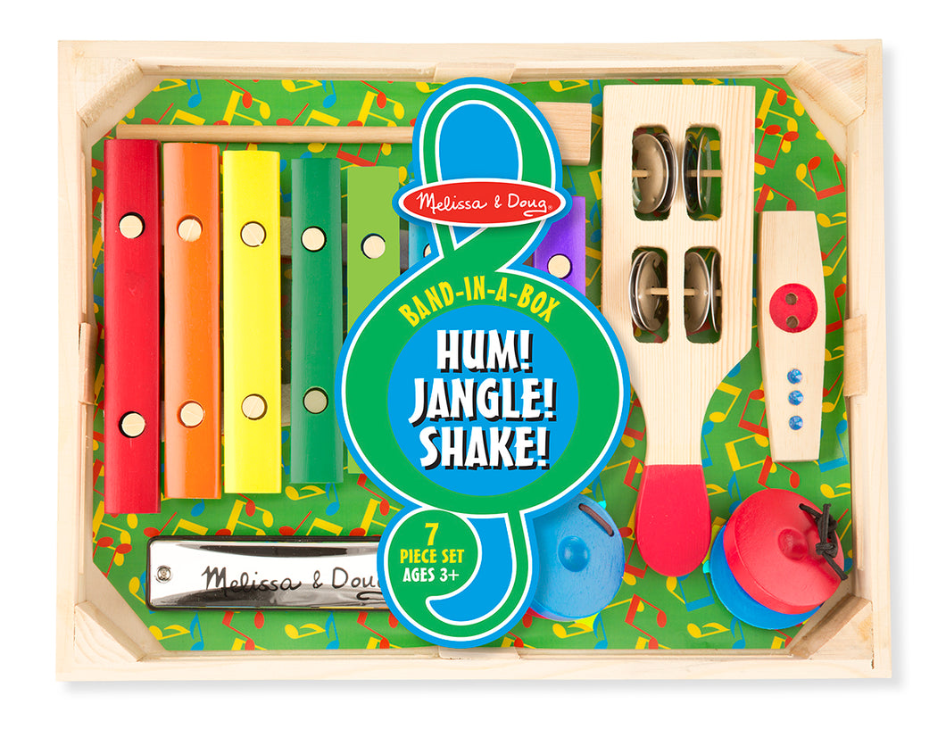 Melissa and Doug Band-in-a-Box - Hum! Jangle! Shake! - All-Star Learning Inc. - Proudly Canadian