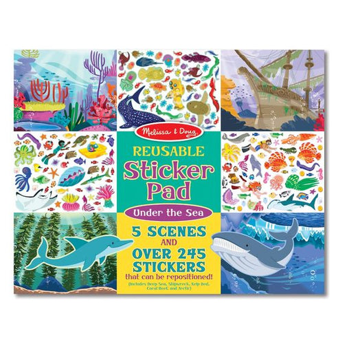 Melissa and Doug Reusable Sticker Pad - Under the Sea - All-Star Learning Inc. - Proudly Canadian