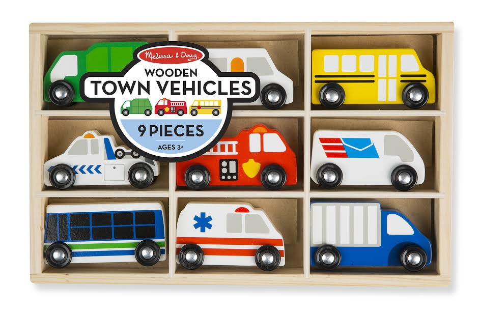 Melissa and Doug Wooden Town Vehicles Set - All-Star Learning Inc. - Proudly Canadian