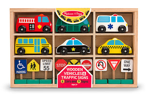 Melissa and Doug Wooden Vehicles and Traffic Signs - All-Star Learning Inc. - Proudly Canadian