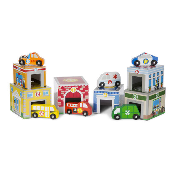Melissa and Doug Nesting & Sorting Buildings & Vehicles - All-Star Learning Inc. - Proudly Canadian