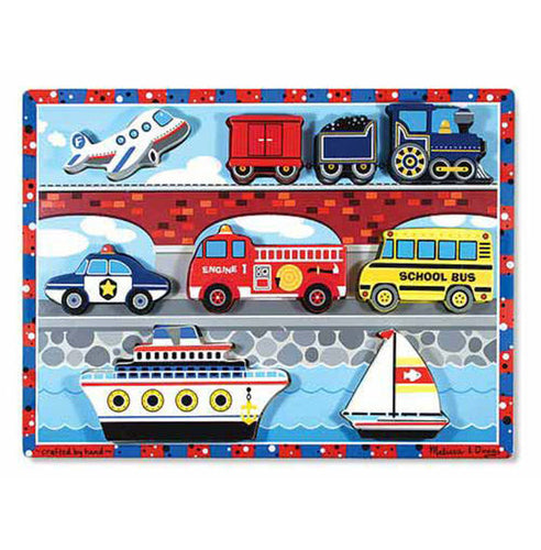 Melissa and Doug Vehicles Chunky Puzzle - 9 Pieces - All-Star Learning Inc. - Proudly Canadian