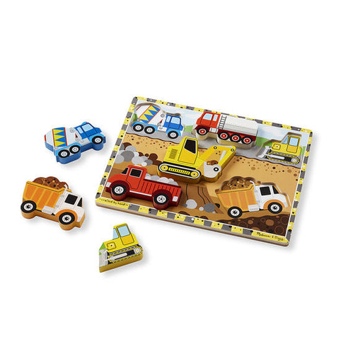 Melissa and Doug Construction Chunky Puzzle - 6 Pieces - All-Star Learning Inc. - Proudly Canadian