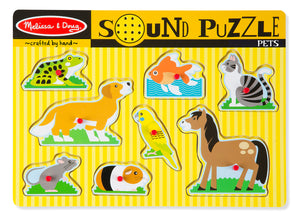 Melissa and Doug Pets Sound Puzzle - 8 Pieces - All-Star Learning Inc. - Proudly Canadian