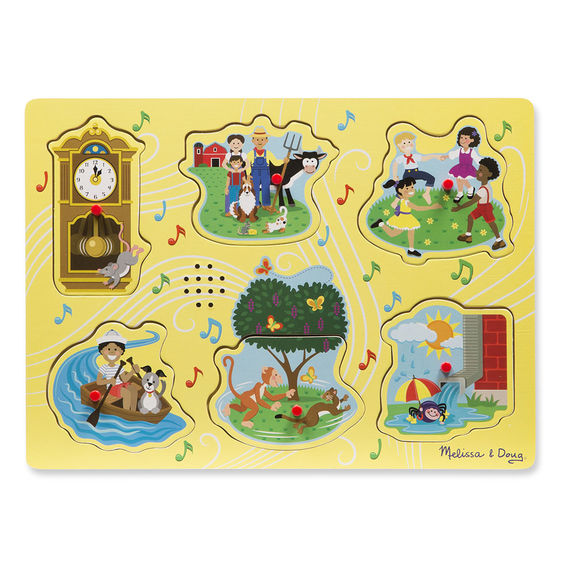 Melissa and Doug Sing-Along Nursery Rhymes Sound Puzzle - Yellow - All-Star Learning Inc. - Proudly Canadian