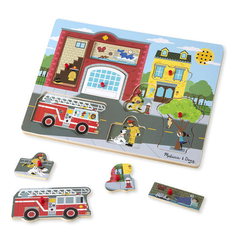 Melissa and Doug Around the Fire Station Sound Puzzle - All-Star Learning Inc. - Proudly Canadian