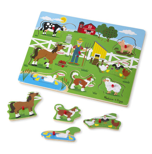 Melissa and Doug Old MacDonald's Farm Sound Puzzle - All-Star Learning Inc. - Proudly Canadian