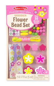 Melissa and Doug Decorate-Your-Own Wooden Flower Bead Set - All-Star Learning Inc. - Proudly Canadian
