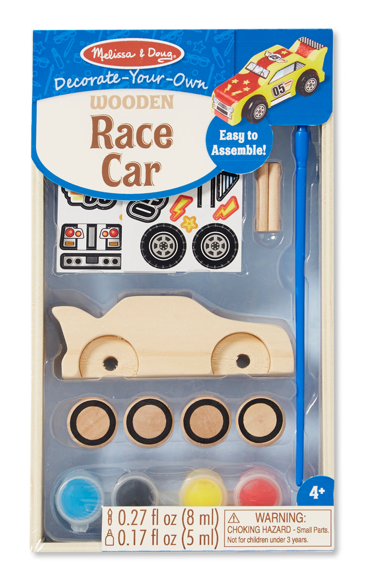 Melissa and Doug Decorate-Your-Own Wooden Race Car - All-Star Learning Inc. - Proudly Canadian