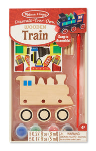 Melissa and Doug Decorate-Your-Own Wooden Train - All-Star Learning Inc. - Proudly Canadian