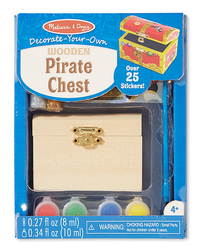 Melissa and Doug Decorate-Your-Own Wooden Pirate Chest - All-Star Learning Inc. - Proudly Canadian