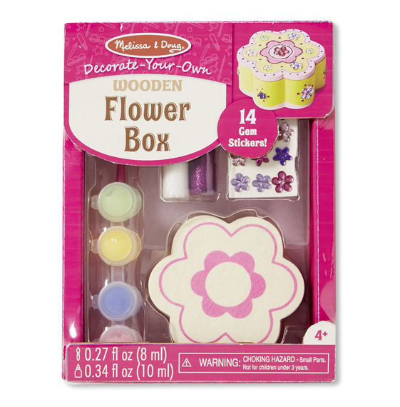 Melissa and Doug Decorate-Your-Own Wooden Flower Box - All-Star Learning Inc. - Proudly Canadian