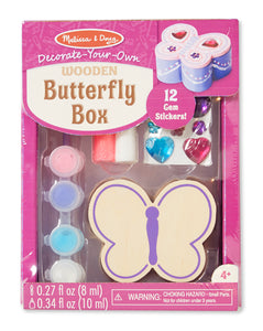 Melissa and Doug Decorate-Your-Own Wooden Butterfly Box - All-Star Learning Inc. - Proudly Canadian