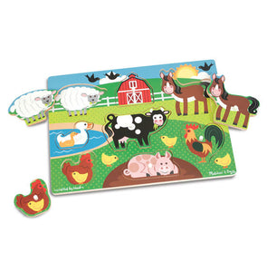 Melissa and Doug Farm Peg Puzzle - 8 pieces - All-Star Learning Inc. - Proudly Canadian