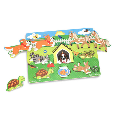 Melissa and Doug Pets Peg Puzzle - 8 Pieces - All-Star Learning Inc. - Proudly Canadian