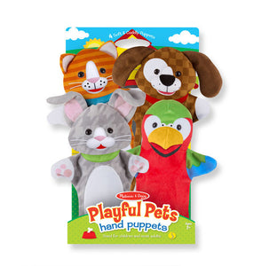 Melissa and Doug Playful Pets Hand Puppets - All-Star Learning Inc. - Proudly Canadian