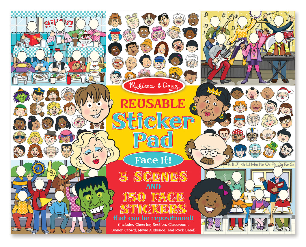 Melissa and Doug Reusable Sticker Pad - Face It! - All-Star Learning Inc. - Proudly Canadian