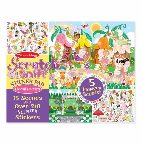 Melissa and Doug Scratch & Sniff Sticker Pad - Floral Fairies - All-Star Learning Inc. - Proudly Canadian