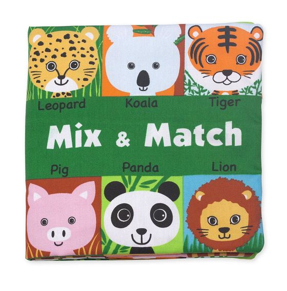 Melissa and Doug Soft Activity Book - Mix & Match - All-Star Learning Inc. - Proudly Canadian