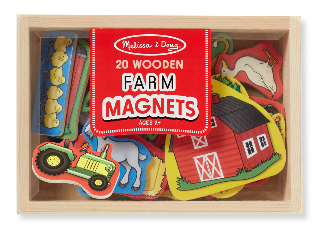 Melissa and Doug Wooden Farm Magnets - All-Star Learning Inc. - Proudly Canadian