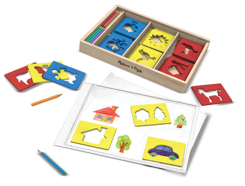 Melissa and Doug Wooden Stencil Box - All-Star Learning Inc. - Proudly Canadian