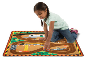 Melissa and Doug Round the Construction Zone Work Site Rug & Vehicle Set - All-Star Learning Inc. - Proudly Canadian