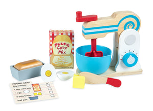 Melissa and Doug Wooden Make-a-Cake Mixer Set - All-Star Learning Inc. - Proudly Canadian