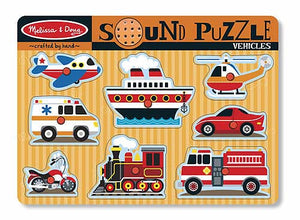 Melissa and Doug Vehicles Sound Puzzle - All-Star Learning Inc. - Proudly Canadian