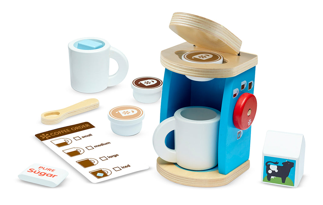 Melissa and Doug Wooden Brew & Serve Coffee Set - All-Star Learning Inc. - Proudly Canadian