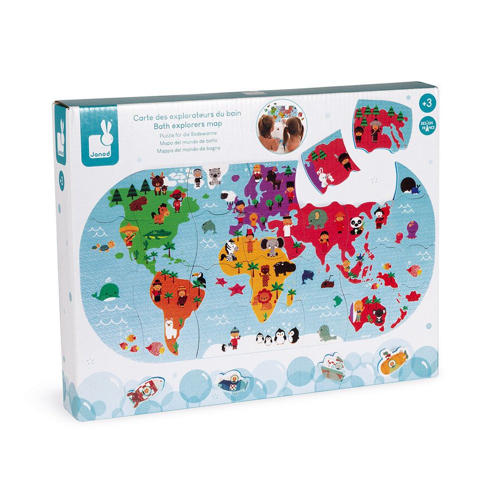 Janod Bath Explorers Map - All-Star Learning Inc. - Proudly Canadian