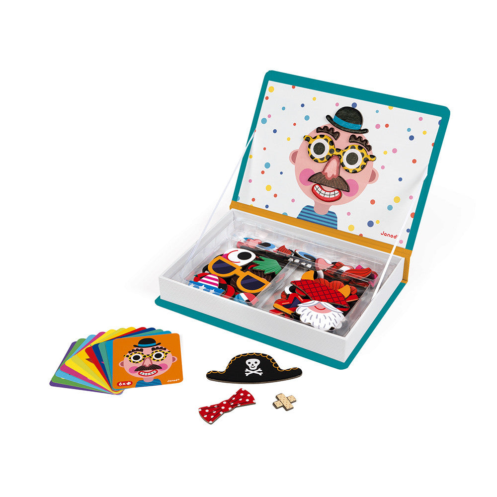 Janod Boy's Crazy Faces Magnetibook - All-Star Learning Inc. - Proudly Canadian