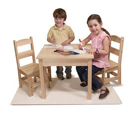Melissa and Doug Wooden Table & Chairs 3-Piece Set - All-Star Learning Inc. - Proudly Canadian