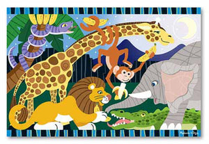 Melissa and Doug Safari Social Floor Puzzle - 24 Pieces - All-Star Learning Inc. - Proudly Canadian