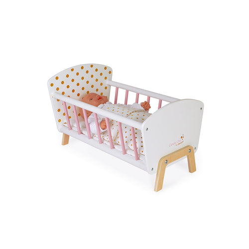 Janod Candy Chic's Doll Bed - All-Star Learning Inc. - Proudly Canadian