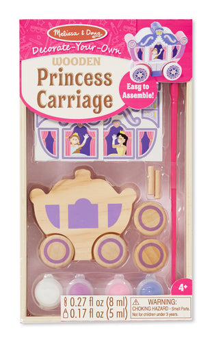 Melissa and Doug Decorate-Your-Own Wooden Princess Carriage - All-Star Learning Inc. - Proudly Canadian