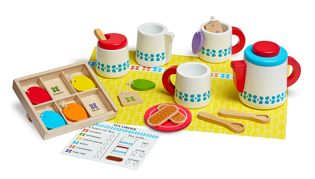 Melissa and Doug Wooden Steep & Serve Tea Set - All-Star Learning Inc. - Proudly Canadian