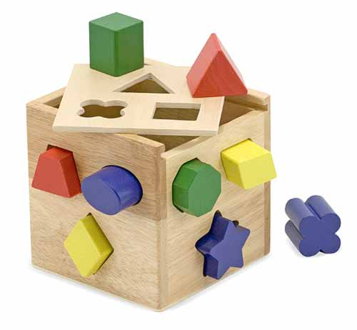 Melissa and Doug Shape Sorting Cube - All-Star Learning Inc. - Proudly Canadian