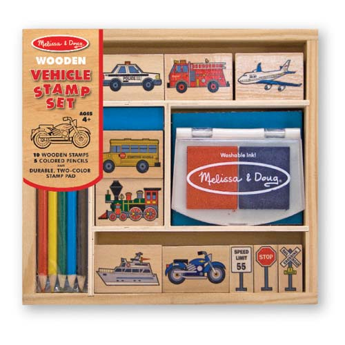Melissa and Doug Vehicles Stamp Set - All-Star Learning Inc. - Proudly Canadian