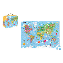 Janod Giant World Map Puzzle - 300 Pieces