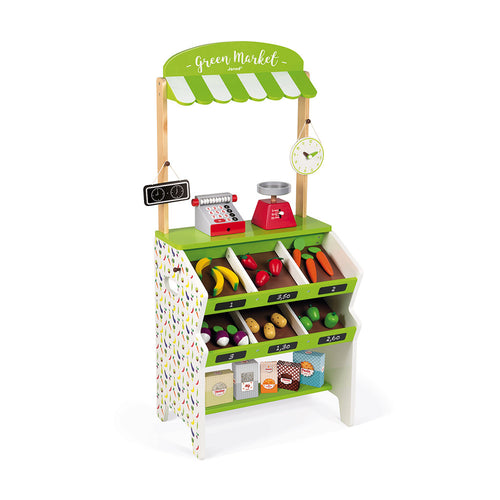 Janod Green Market Grocery (Wood) - All-Star Learning Inc. - Proudly Canadian