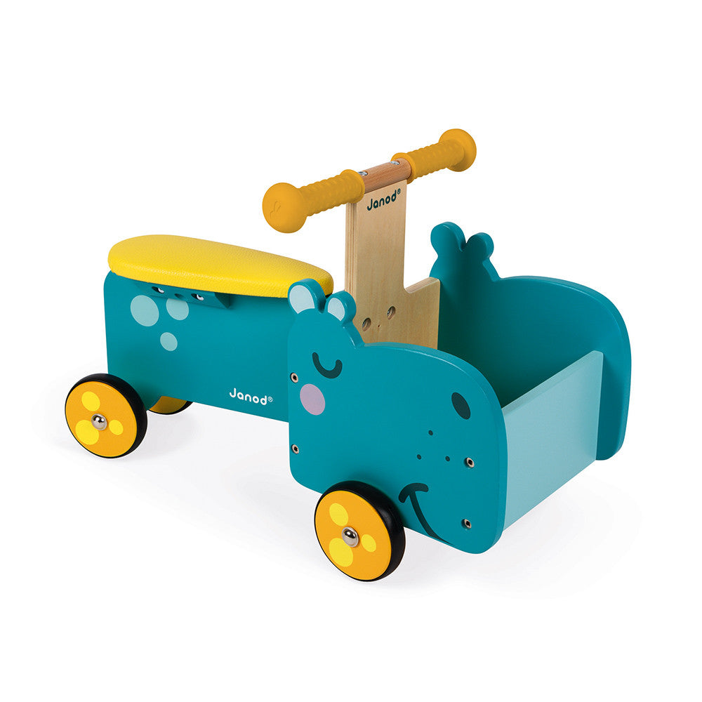 Janod Hippo Ride-On (Wood) - All-Star Learning Inc. - Proudly Canadian
