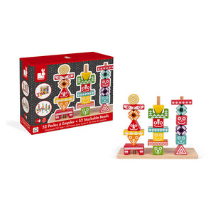 Janod I Wood Edutotem Stackable Pieces (Wood) - All-Star Learning Inc. - Proudly Canadian