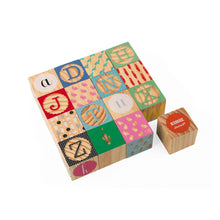 Janod Kubix 16 Wood Alphabet Blocks