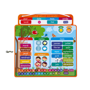 Janod Magnetic Calendar A Beautiful Day - French Version