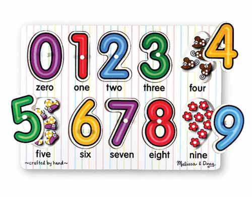 Melissa and Doug See-Inside Numbers Peg Puzzle - 10 pieces - All-Star Learning Inc. - Proudly Canadian