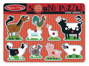 Melissa and Doug Farm Animals Sound Puzzle - 8 Pieces - All-Star Learning Inc. - Proudly Canadian